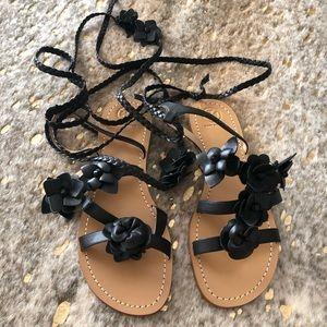 Tory Burch rosette gladiator sandal